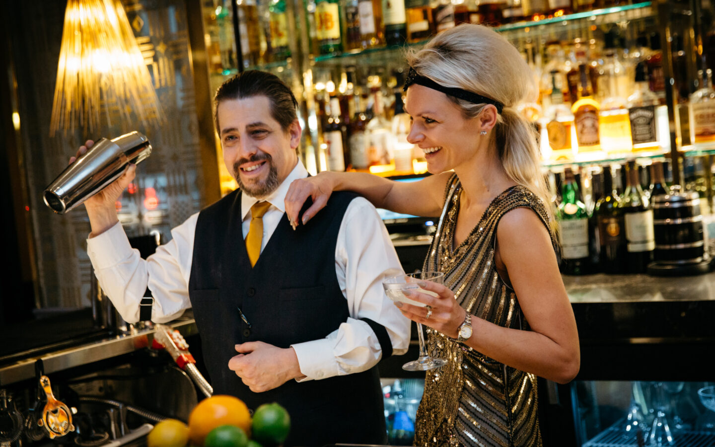 bartender and server at Bar & Billiards Room at The Read House